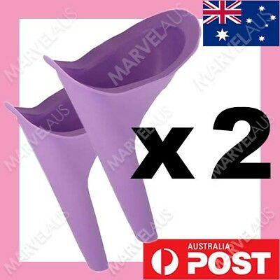 AU9.50 • Buy 2 X Portable Female Woman Ladies She Urinal Urine Wee Funnel Camping Travel Loo