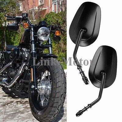$35.68 • Buy Pair Oval Motorcycle Parts Rearview Custom Mirrors For Harley Iron 883 2009-2014