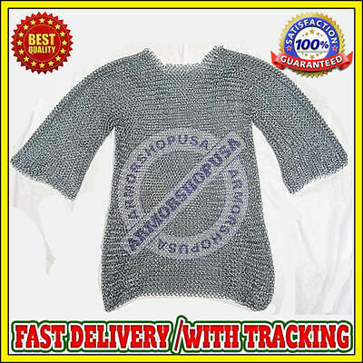 £25 • Buy Medieval Aluminium Chainmail Shirt Butted Chain Mail Armor Costume Reenactment