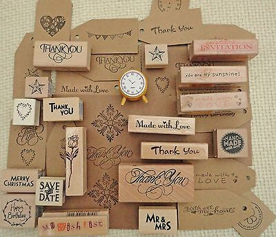 £3.25 • Buy Thank You Rubber Stamps Christmas Weddings Gift Tags Special Occasions Craft