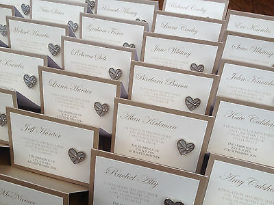 £0.99 • Buy Personalised Wedding Name Place Setting   Charity Badge Favour Card