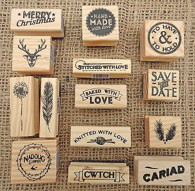 New East Of India Rubber Stamps Party Wedding Heart Craft Gift Card Name Tags • 3.25£
