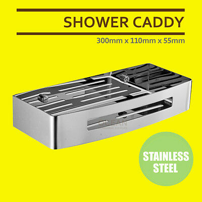 AU43 • Buy Bathroom Stainless Steel Shower Caddy Organizer Storage Rack Shelf Hanger Basket