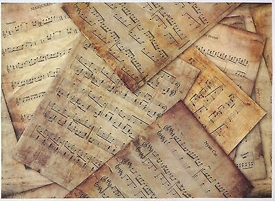 £3.20 • Buy Rice Paper -Vintage Music- For Decoupage Decopatch Scrapbook Craft Sheet A/3