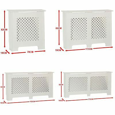 £39.95 • Buy Oxford Radiator Cover White Traditional MDF Wood Cabinet Grill Furniture Sizes