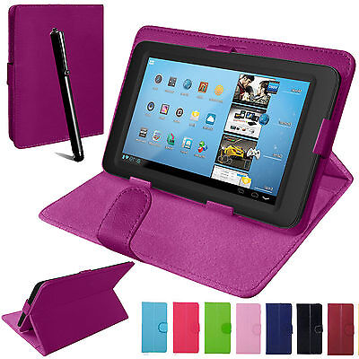 Universal PU Leather Stand Folio Case Tablet Cover For 7 ,8  9 .,9.7 ,10  10.1 • 5.99£