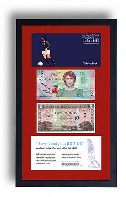 2 Framed George Best Limited Edition Fiver Five £5 Pound Note Presentation  • 79.99£