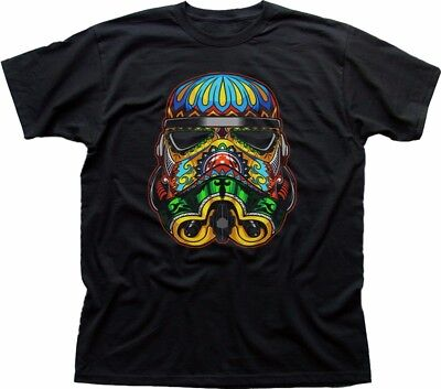 Stormtrooper Psychedelic STAR WARS Inspired Printed Black T-shirt FN9373 • 12.99£