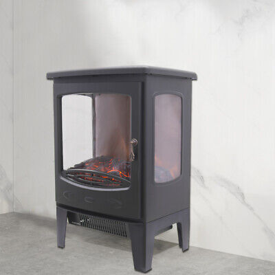 Freestanding 1800W Electric Fireplace Home Heater Fire Place Stove Flame Effect • 73.95£