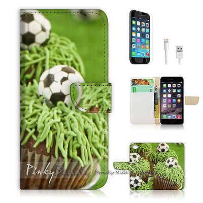 £7.06 • Buy ( For IPhone 7 ) Wallet Case Cover P1390 Football Cup Cake