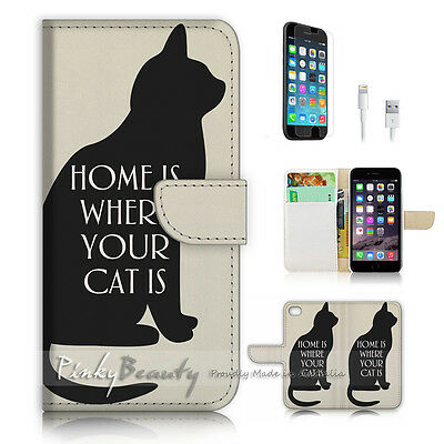 AU12.99 • Buy ( For IPhone 7 Plus ) Wallet Case Cover P2992 Cat Home