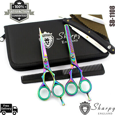£16.99 • Buy Professional Barber Hairdressing Scissors Hair Cutting Thinning Shear Set 5.5''