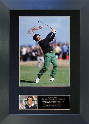 SEVE BALLESTEROS Signed Mounted Reproduction Autograph Photo Prints A4 53 • 17.99£