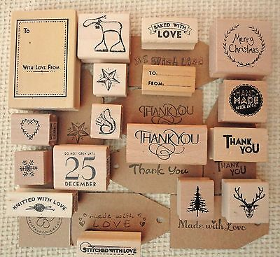 Rubber Stamps For Christmas Cards Gift Tags Scrap-booking Crafting Card Making • 3.25£