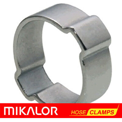 £1.86 • Buy 10 Or 20 Pack | DOUBLE EAR HOSE CLIP O CLAMP MIKALOR | ZINC PLATED STEEL