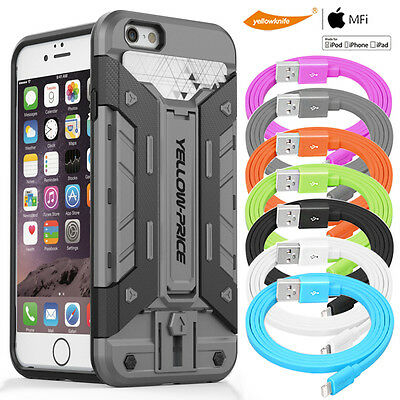 AU19.62 • Buy Armor Case Slide Credit Card Slot Holder IPhone 6 6S USB Data Cable FAST Charger
