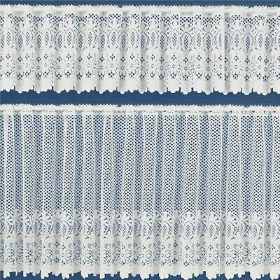 £2.85 • Buy Vintage Macrame White Lace Cafe Net Curtain 12  18  24  Drops Sold By The Metre