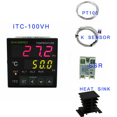 AU43.99 • Buy Inkbird PID Digital Temperature Controller ITC-100VH Thermostat Heating Brewing