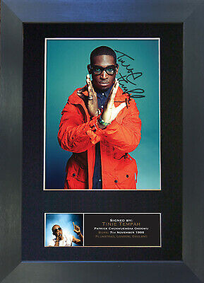 TINIE TEMPAH Signed Mounted Reproduction Autograph Photo Prints A4 401 • 5.99£