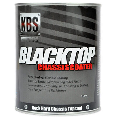 AU105.75 • Buy KBS Coatings - Blacktop Chassis Paint 1L Gloss Flexible Permanent UV Stability