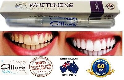 AU11.95 • Buy Allure Teeth Whitening Pen Tooth Gel 18%CP High Strength Home Use Fast Results