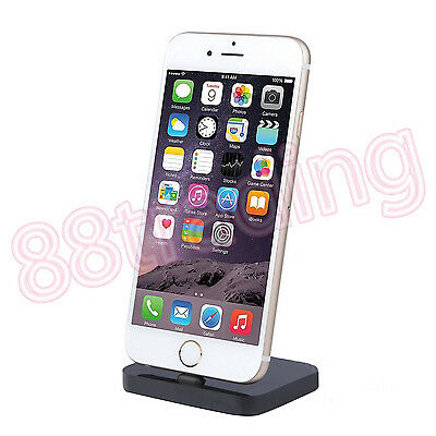 Portable Slim Charging Dock Cradle Desktop Charger Data Sync For 8 Pins Mobile • 4.99£