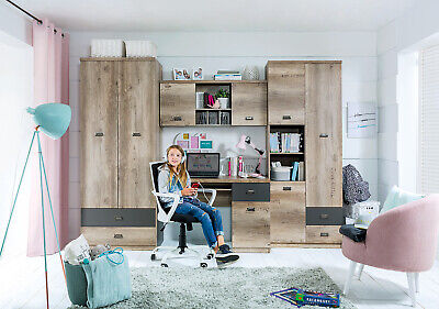 Children, Teens Bedroom Furniture, Set Malcolm, Strong And Solid, 4 Pieces • 576.99£