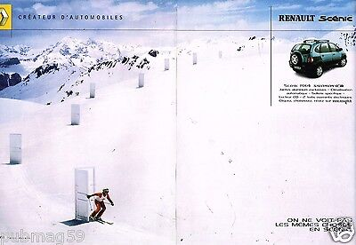 Publicité Advertising 2001 (2 Pages) Renault Scénic RX 4 Salomon • 4.44£
