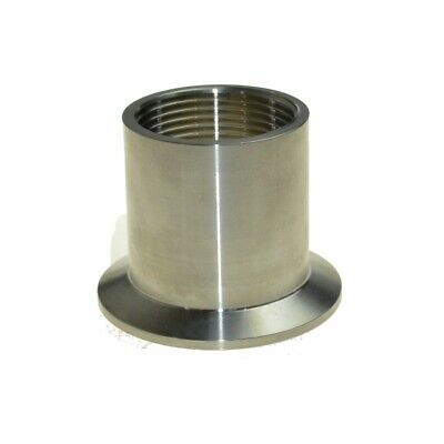 AU12.77 • Buy 1-1/2  DN40 Sanitary Female Threaded Ferrule Pipe Fittings Tri Clamp Type SS304