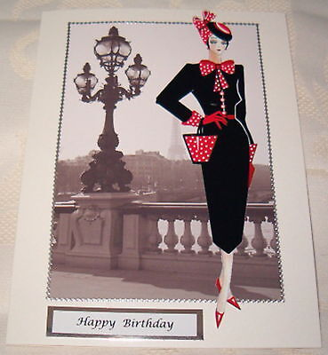 £1.69 • Buy Art Deco Female Birthday Card Can Be Personalised