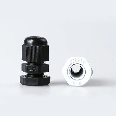 $3.89 • Buy 10PCS M12X1.5 Black Or White Plastic Connector Waterproof Cable Glands IP68