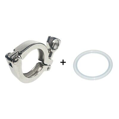 AU9.01 • Buy 2   Tri Clamp Clover For 64MM OD Ferrule Stainless Steel SS SUS 304