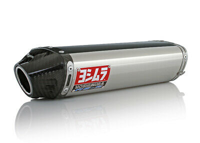 $409 • Buy 05-06 Kawasaki ZX6R Yoshimura RS5 Stainless Carbon End Cap S/O Exhaust 1462275