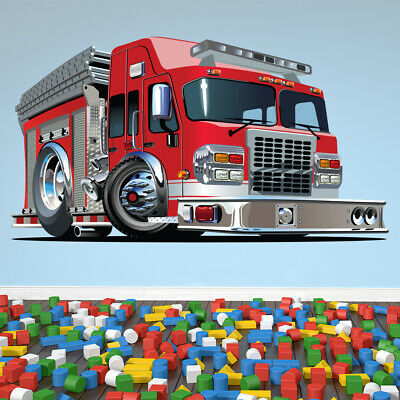 £15.98 • Buy Red Fire Engine Wall Sticker WS-41182