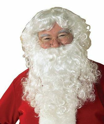 $85.05 • Buy NEW Santa Claus Beard And Wig Set White One Size Christmas Costume Cosplay Wash