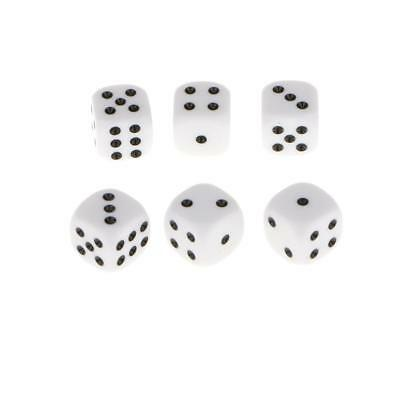AU18.57 • Buy 100pcs 16mm Opaque Six Sided Spot Dice Games D6 D&D RPG Wargaming White