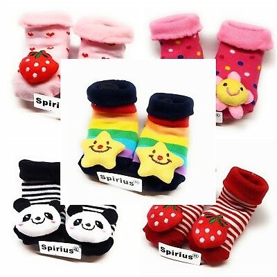 SPIRIUS Baby Toddler Boys Girls Cotton Socks Booties Shoes Slippers Animal Warm • 3.49£