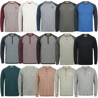 View Details New Mens Tokyo Laundry Branded Soft Jersey Long Sleeve Tops T-Shirts Size S-XL • 8.99£