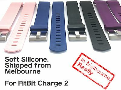 AU4.99 • Buy Soft Silicone Replacement Band For FitBit Charge 2 - Located In Melbourne