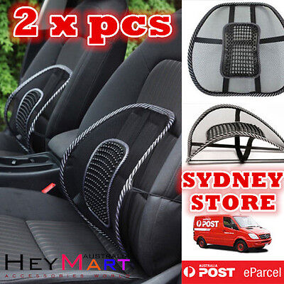 AU18.99 • Buy 2x Mesh Lumbar Back Support Cushion Seat Posture Corrector Car Office Chair Home