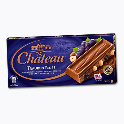 $ CDN24.17 • Buy 3 X 200g German CHATEAU Chocolate With Raisin Nut  NEW From Germany