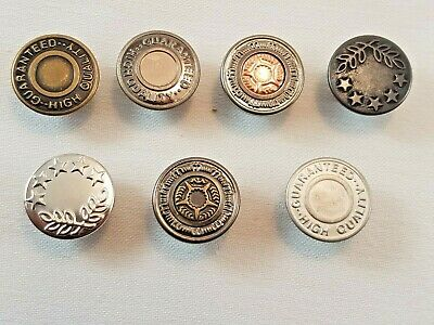 10 X 17mm Hammer On Denim Jeans Buttons Brass Based Gunmetal Tack Alloy Studs  • 4.99£