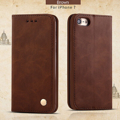 AU9.99 • Buy For IPhone XS Max 8 7 Plus PU Leather Wallet Card Holder Stand Flip Case Cover