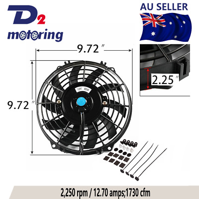 AU39 • Buy 9  9inch 12v Pull Push Radiator Electric Thermo Fan Mounting Kit Cueved Blade