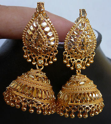 AU19.36 • Buy Traditional Gold Plated South Indian Earrings Jhumka Jhumki Jewelry Set
