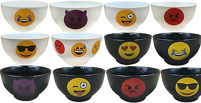 £4.99 • Buy Emoticon Cereal Bowls. Stoneware Soup Bowls With Emoji. Express Your Feelings
