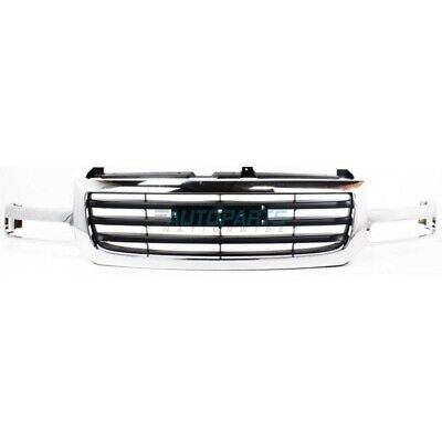 $172.95 • Buy New Front Grille Chrome Black Fits 2003-2007 Gmc Sierra 1500 2500 Gm1200475