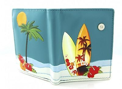 Small Ladies Fashion Wallet Purse - Surfboards By The Sea By Shagwear • 18.75£