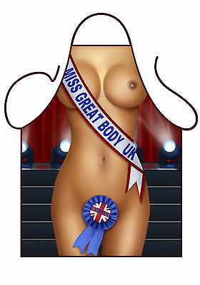 Womens Sexy Novelty Apron,sexy Miss Great World/body, As Summer Bbq Apron,lady • 8.95£