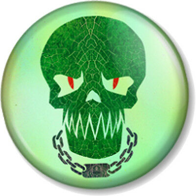 Suicide Squad Killer Croc Skull 25mm Pin Button Badge DC Comics Antihero Movie • 0.99£